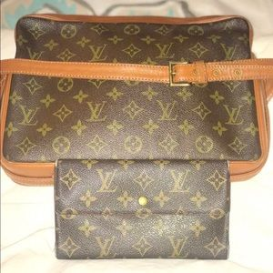 Louis Vuitton Sac Bandouliere Purse with wallet
